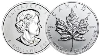 meaple leaf silbermünze verkaufen bild