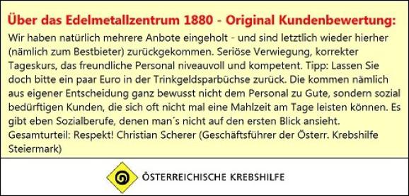 Kundenbewertung Referenzen Gold Ankauf Graz